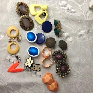 One dozen pair of vintage clip earrings.